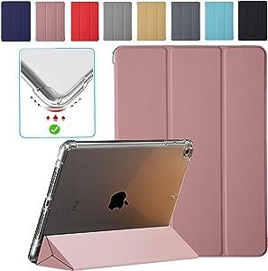 DuraSafe Cases For iPad Mini 5 Mini 4 Mini 3 Mini 2 Mini 1 - 7.9 MGNV2LL/A ME276LL/A MK6K2LL/A MUQY2LL/A MUQW2LL/A Ultra Slim Power Saving (Auto Sleep/Wake) Case with Clear Back - Rose Gold