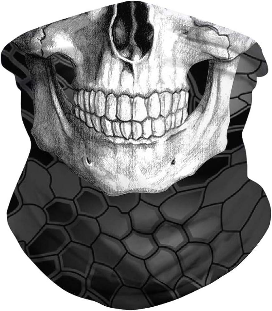 Blue Skull Multifunctional Bandana,Motorbike,Milspec,Cycling,Hiking,Face Scarf