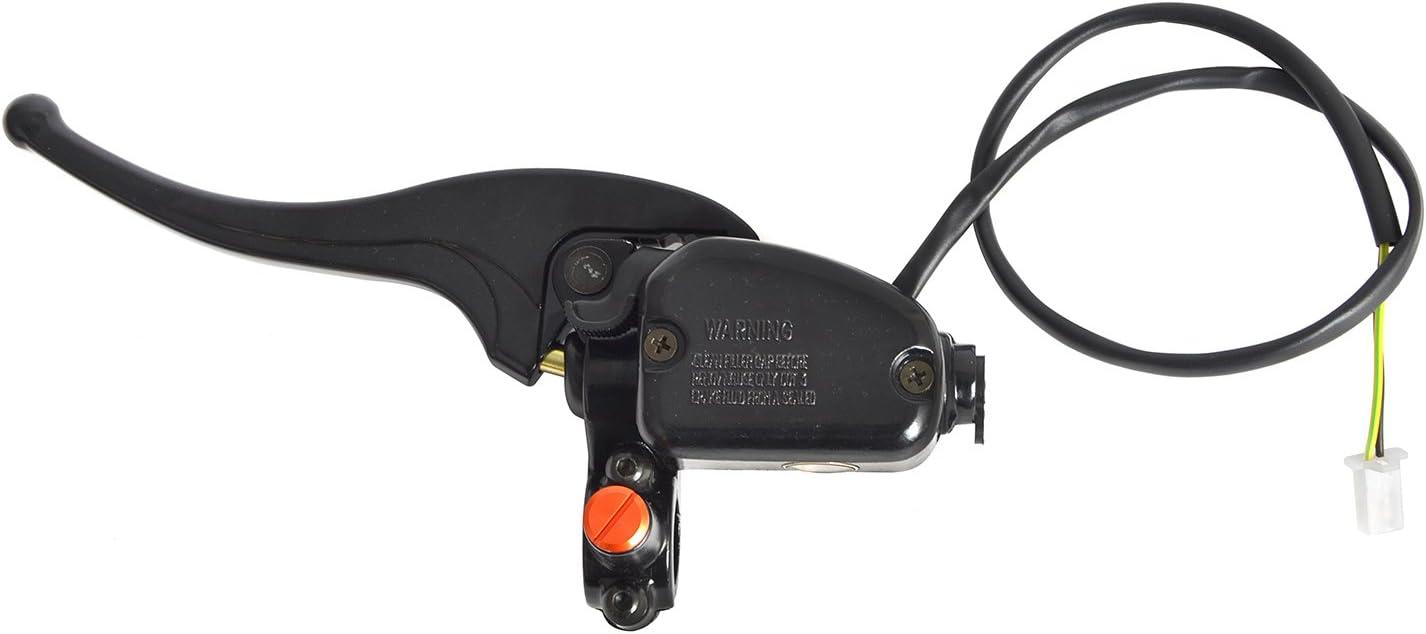NICECNC Left Hydraulic Brake Master Cylinder Lever with Mirror Hole Plug for Manco Talon 2x4 4x4 260cc 300cc ATV UTV