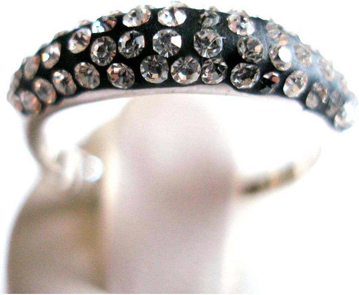 Phantasya Ring Swiss Collection schmal schwarz Größe 54