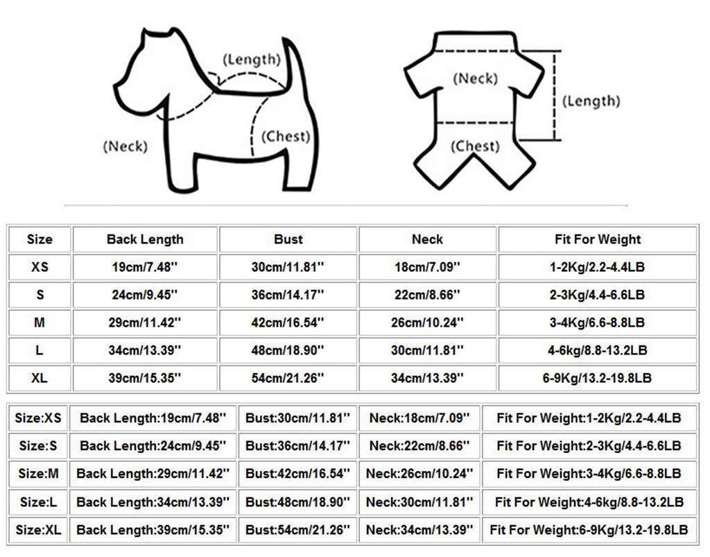 Abbigliamento per Animali Domestici di Natale ALIKEEY Nuova Moda Gilet per Animali Domestici Estate E Autunno Strisce Arcobaleno Abbigliamento Cane Gatto