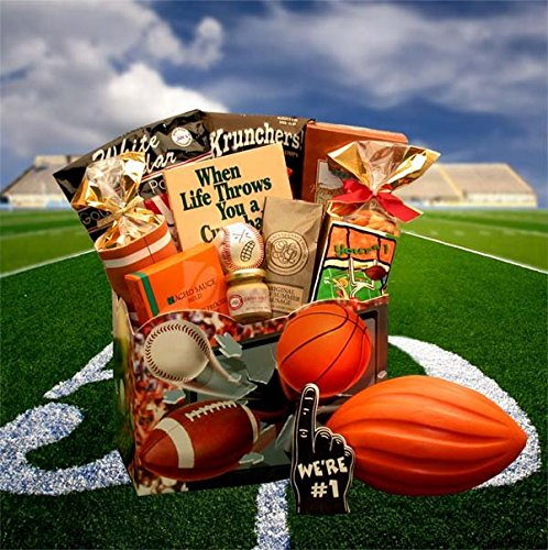 All Star Sports Themed Gourmet Gift Box -Holiday, Birthday, Father's Day Gift Idea (Sports Themed Gift Baskets For Kids)