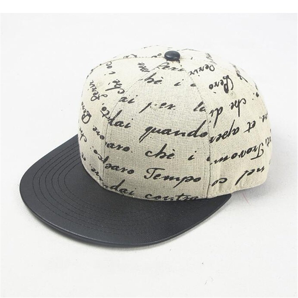 Hat The Autumn and Winter Season Canvas Letter Printed Cap and Cap Baseball Cap Accessories