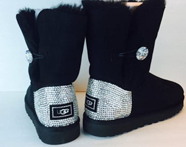Ugg Bailey Button Bling, Swarovski Uggs, Bling ugg Boots, Bailey bling uggs