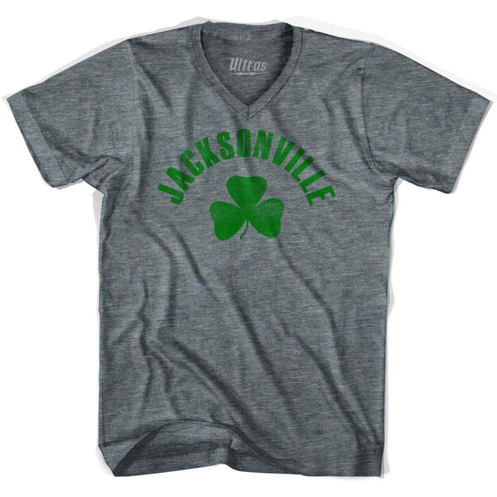 Jacksonville City Shamrock Tri-Blend V-Neck T-Shirt