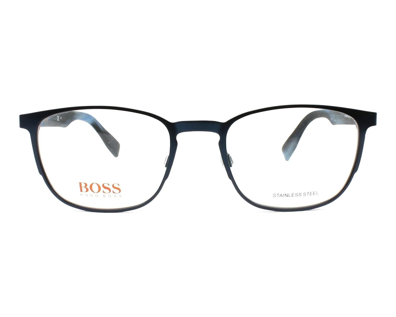 4de09b28afa Amazon.com  Boss Orange frame (BO-0304 HW8) Metal - Acetate Metalic Blue -  Marble Blue  Clothing