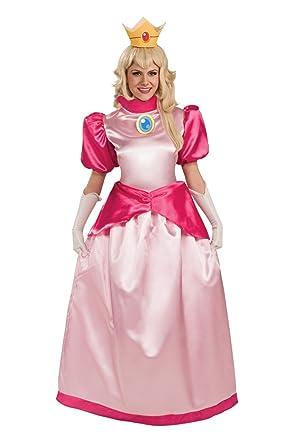 amazon com super mario brothers deluxe princess peach costume pink