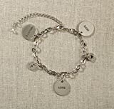 Set of 4 Grateful Heart- Silver Charm Bracelet