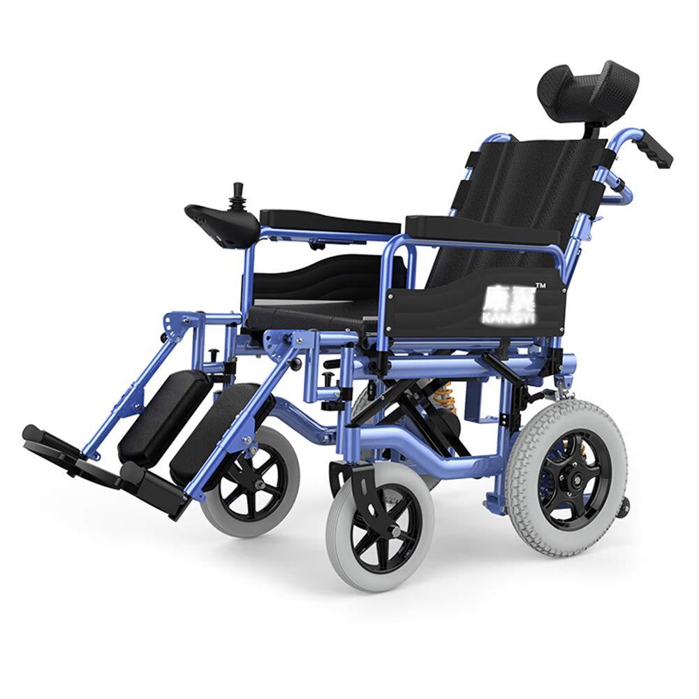 silla eléctrica ruedas plegable muy cómoda medidas regulables