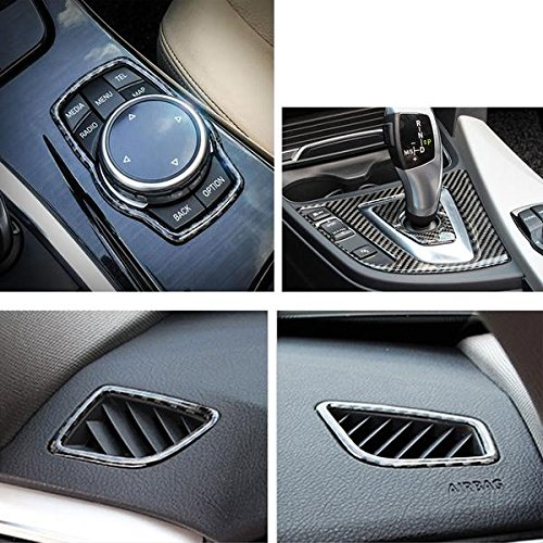 Xotic Tech 1X FULL SET INTERIOR TRIM COVER STICKERS REAL CARBON FIBER FOR BMW 3 4 SERIES by Xotic Tech (Image #8)