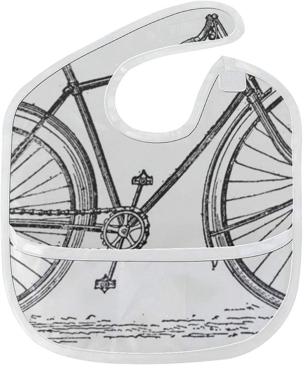 Babero Comida para bebés Vintage Bicicleta antigua Mancha blanda ...
