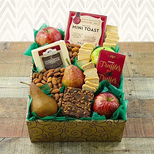 (Fruit & Cheese Snacker's Gift Box)