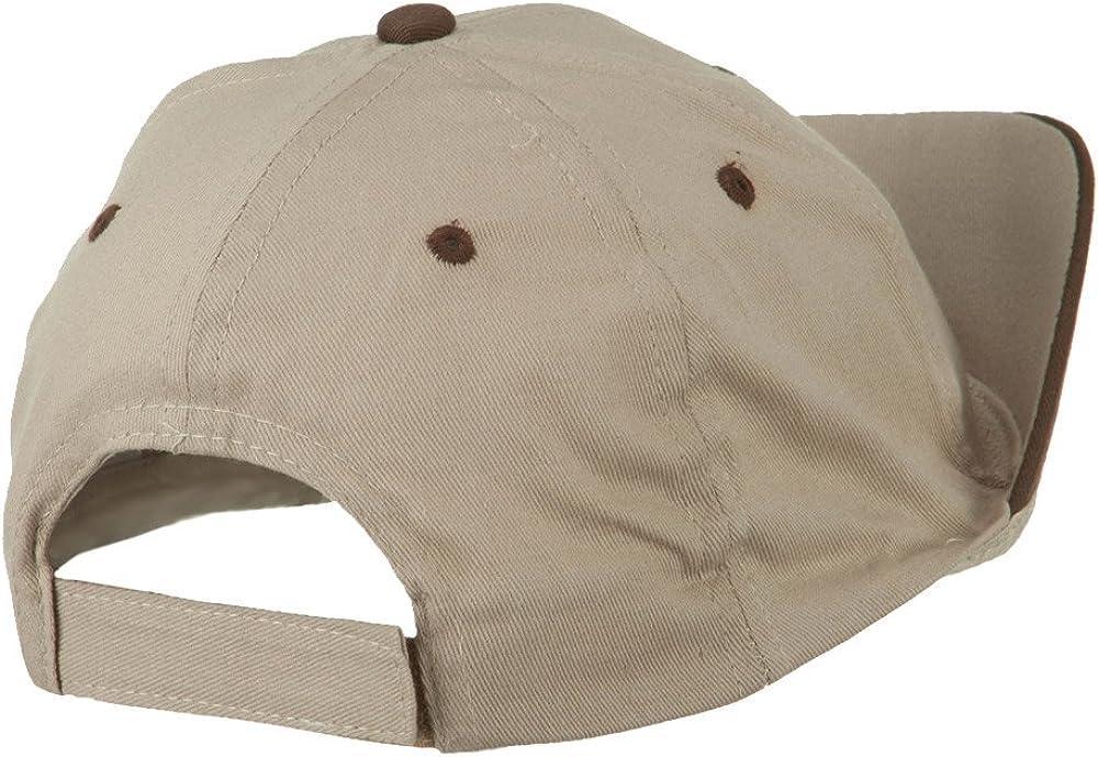 SS//Hat Mustache Cotton 6 Panel Baseball Cap Beige
