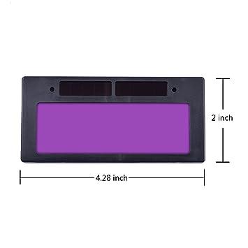 Filtro de soldadura solar autooscurecimiento, filtro horizontal de pantalla variable, máscara de lente de filtro de automatización, pantalla de ojos, ...