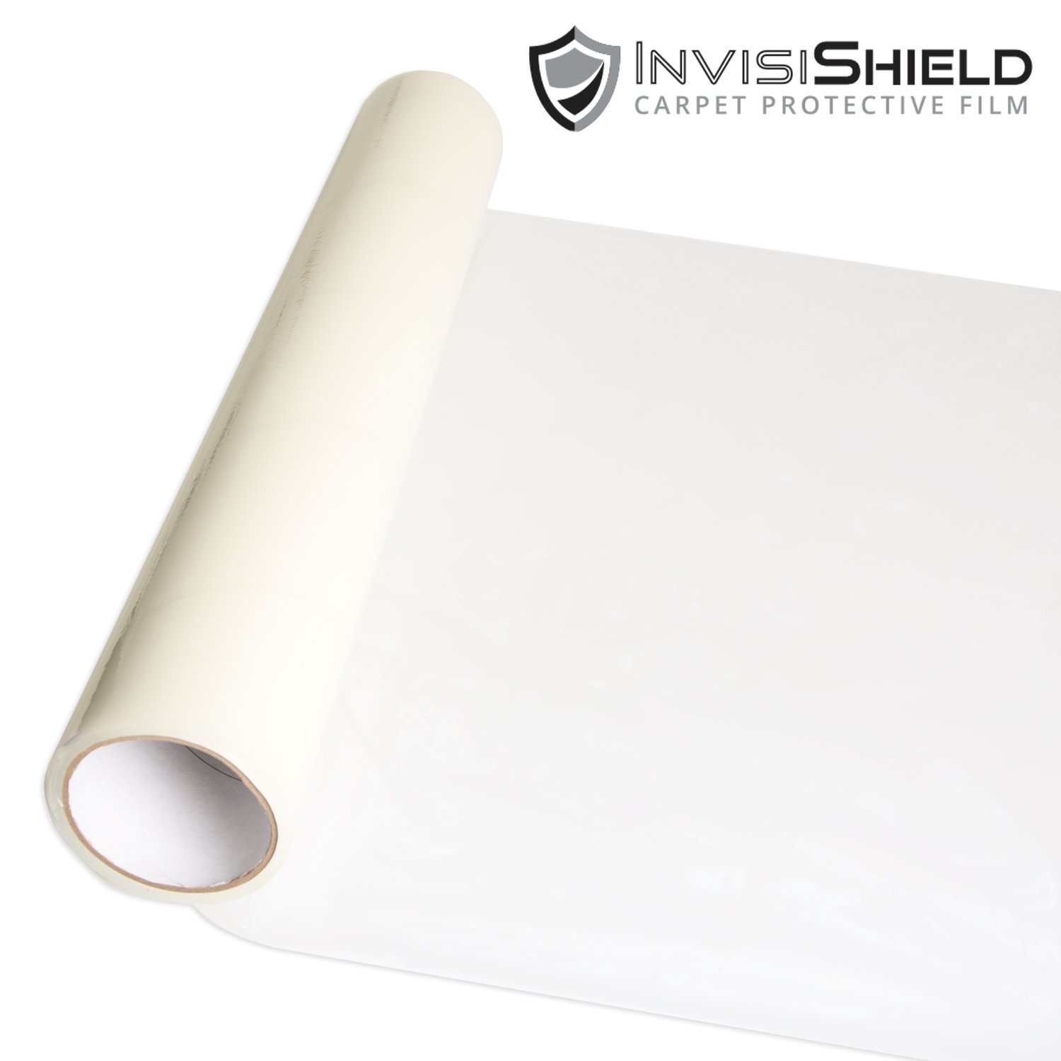 InvisiShield Carpet Protector Film - 24 inch x 200 Foot Adhesive Plastic Floor Protection Film by Iron Forge Tools