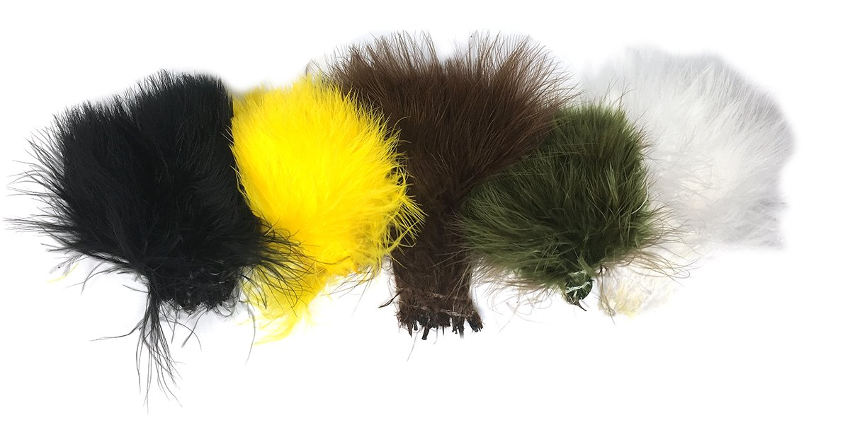 Creative Angler Marabou for Fly Tying/Tying Flies (Standard Colors Variety Pack) by Creative Angler