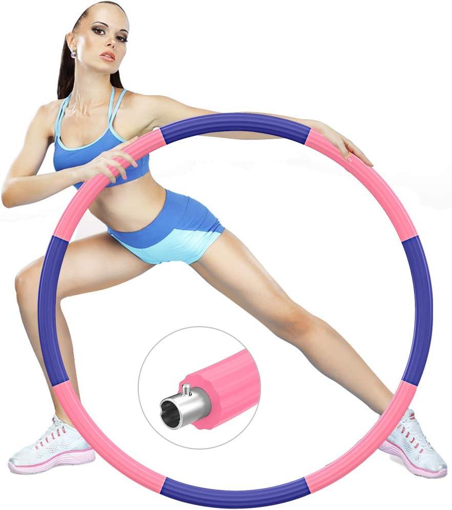 Aros Hoola Hoop Fitness con peso ajustable por 22,09€ (marcando aplicar cupón)