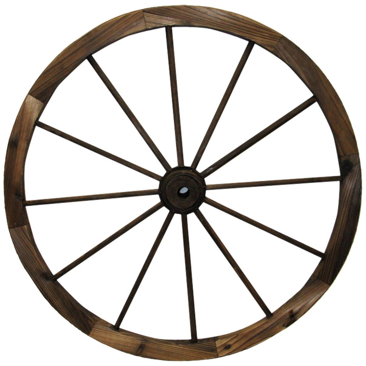 """Leigh Country TX 93951 30"""" Wagon Wheel, 30 Inch, Walnut Finish"""