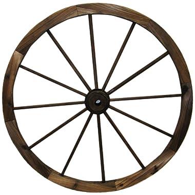 Leigh Country TX 93951 30  Wagon Wheel, 30 Inch, Walnut Finish