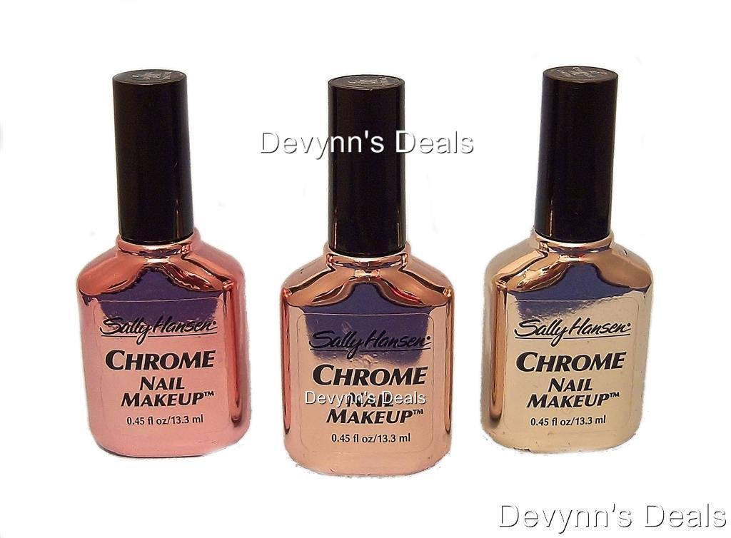 Amazon.com : Sally Hansen CHROME NAIL MAKEUP Nail Polish #43 TAUPE ...