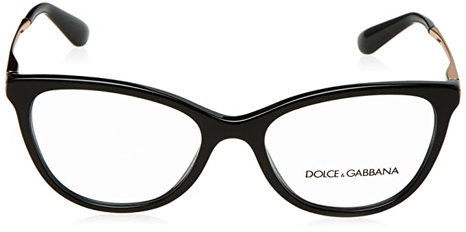 32a24117297 Amazon.com  Dolce Gabbana DG3258 Eyeglass Frames 501-52 - Black DG3258-501-52   Clothing