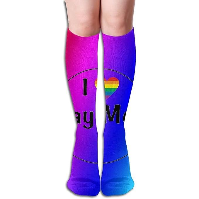 8411fafaa Amazon.com  XNGTAX Thigh High Socks I Love Gay Men Woman s Funny Champion  Athletic Leggings Knee High Stockings For Dress Sport 50cm  Clothing