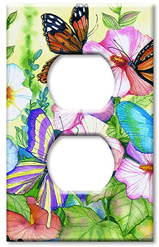 Art Plates - Garden Butterflies Switch Plate - Outlet Cover