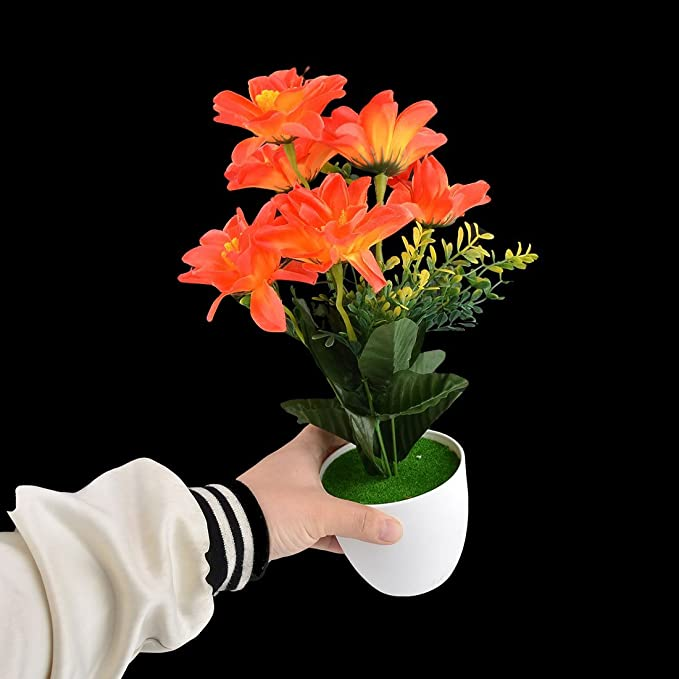 Amazon.com: eDealMax plástico compartida arte de DIY decorativo Artificial de Emulational Flor de Naranja: Home & Kitchen