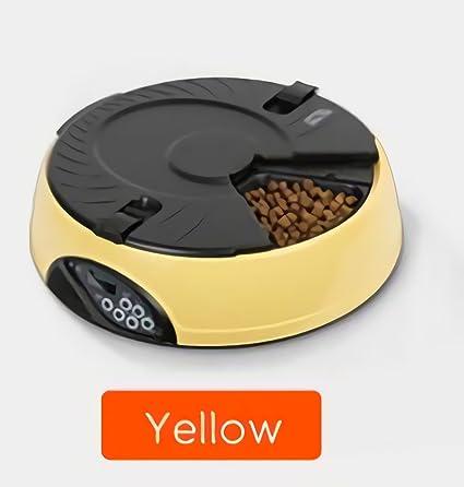 Haol Alimentador Automático Perros Y Gatos - Alimentador Automático De Gatos ,Yellow