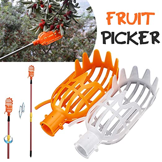 Plastic Orange Fruit Picker without Pole Fruit Catcher Gardening Picking Tools