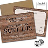 Suit Up Rustic Wood Groomsman Best Man Cards 6 Pack | Wedding Proposal Funny