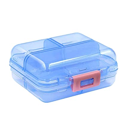 Organizador de pastillas, Caja de pastillas Flip portátil con 7 compartimentos, dispensador de pastillas