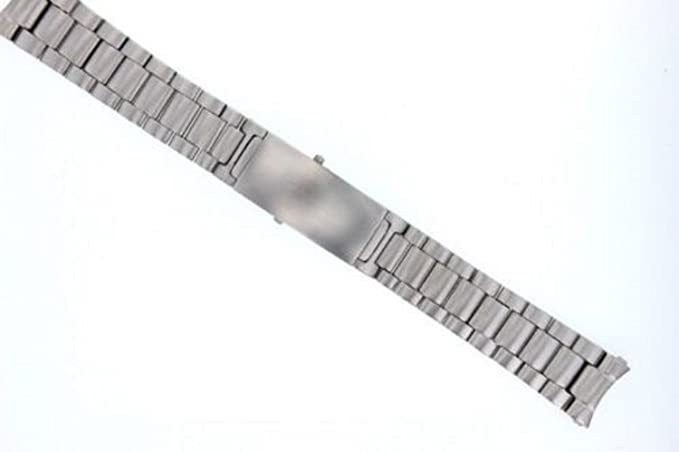 Pulsera de eslabones sólidos para reloj Omega Speedmaster 18 mm acero inoxidable pesado: Amazon.es: Relojes