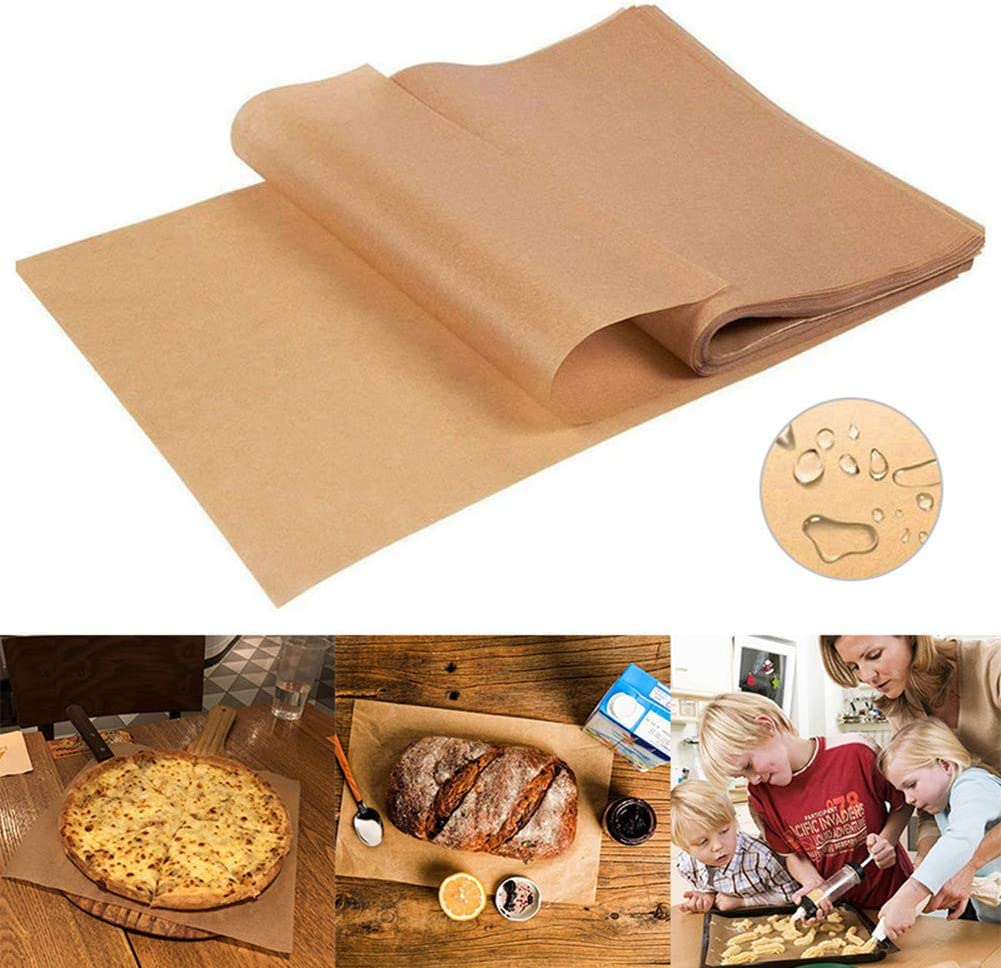260 Pieces Parchment Paper Baking Sheets 10x14 Inches, Precut Non-Stick Parchment Paper for Baking, Cooking, Grilling, Frying and Steaming - Unbleached, Fit for Quarter Sheet Pans