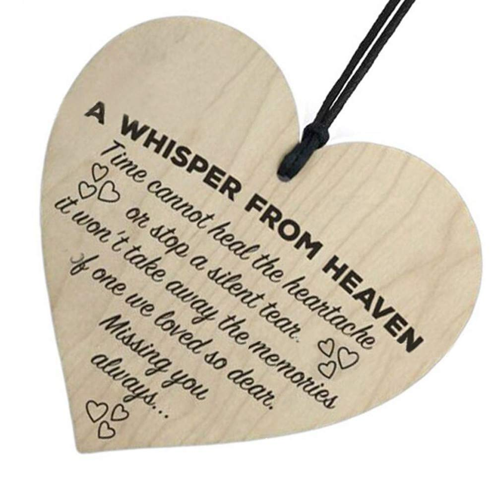 ❤Ywoow❤ Wooden Pendant, Wooden Hanging Gift Plaque Pendant Family Friendship Love Sign Wine Tags Decor