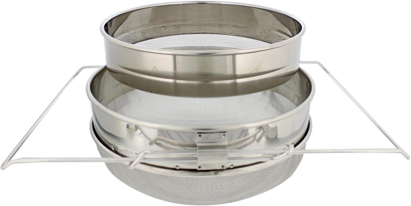 Rural365 Honey Filter, 2 Piece - Honey Extractor Equipment, Honey Bucket Strainer Honey Extractor Stainless Steel Sieve