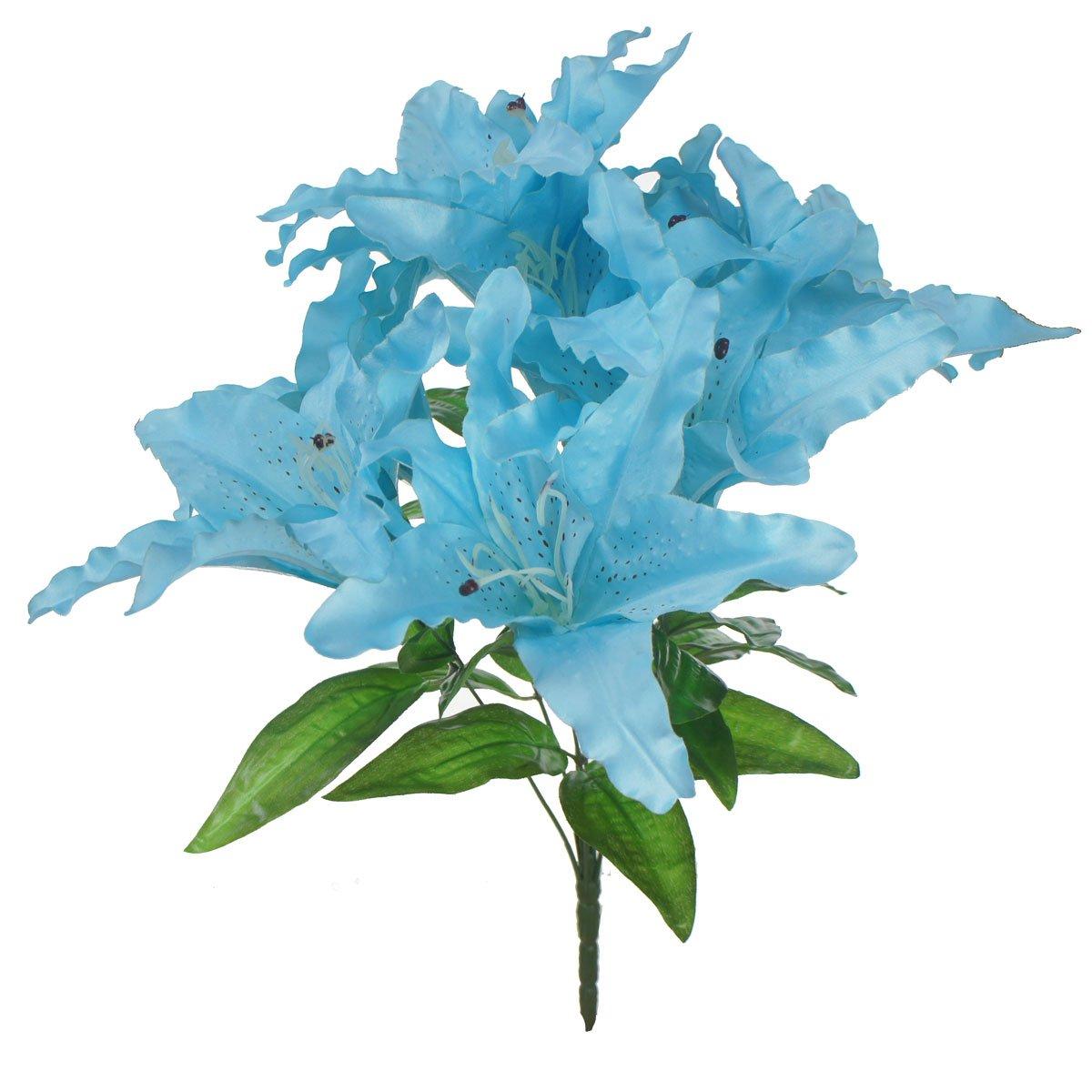 Amazon.com: Lily Garden Large Tiger Lily 9-head Silk Flowers Bush ...