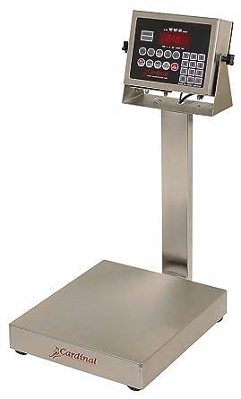Detecto salpicaduras 210 Indicador Digital de acero inoxidable banco báscula, 30 x 0,01