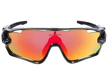 Queshark Deportes Gafas de sol de ciclismo para bicicleta polarizada fotocromática Full Revoed 3 Lente: Amazon.es: Deportes y aire libre