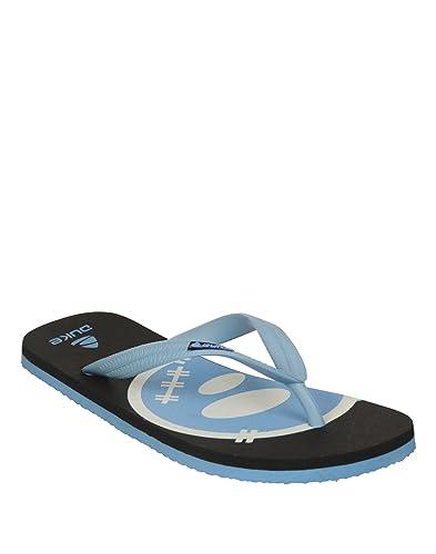 6d3079b4ad8 Duke Men s Black   SkyBlue Coloured Rubber Slippers 10  Buy Online ...