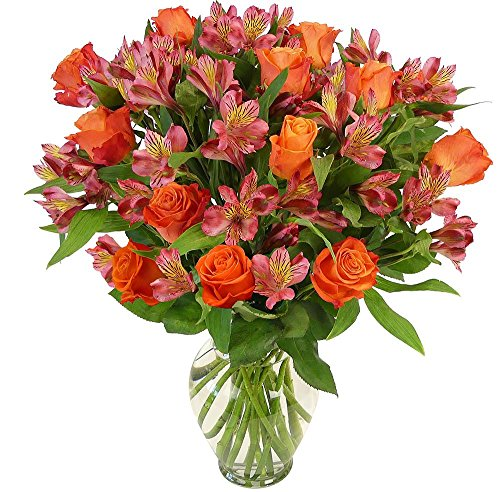 Benchmark Bouquets Radiant Roses and Alstroemeria