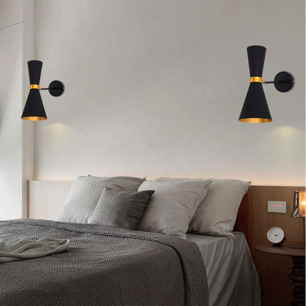 ZOUQILAI Nordic einzigen kopf wandleuchte wandleuchte wandleuchte kreative lautsprecher hotel wohnzimmer wand beleuchtung einfache schlafzimmer nachttischlampe verstellbare wandleuchte (Farbe   SCHWARZ) fc165d