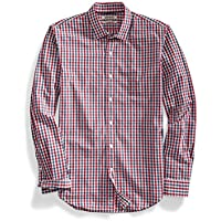 goodthreads Hombre Slim-Fit Long-Sleeve Two-Color Gingham camisa