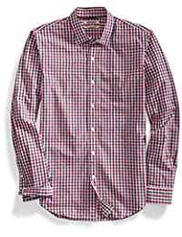 Goodthreads Men's Slim-Fit Long-Sleeve Two-Color Gingham Shirt
