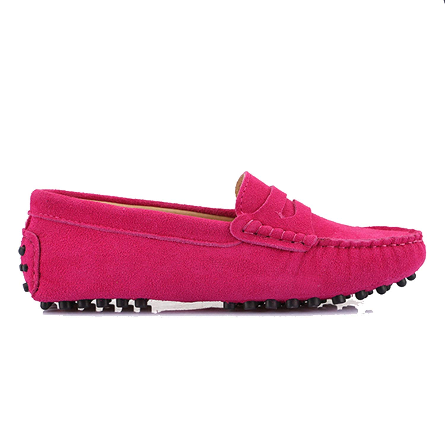 Peach Pink as pic Women's Woman shoes Flats Casual Loafers Soft Slip On Moccasins Lady Driving shoes