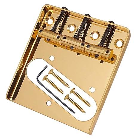 perfk 1 Pc Bridge para Guitarra Eléctrica de 3 Cuerdas para TL para Producción Musical Electrónica