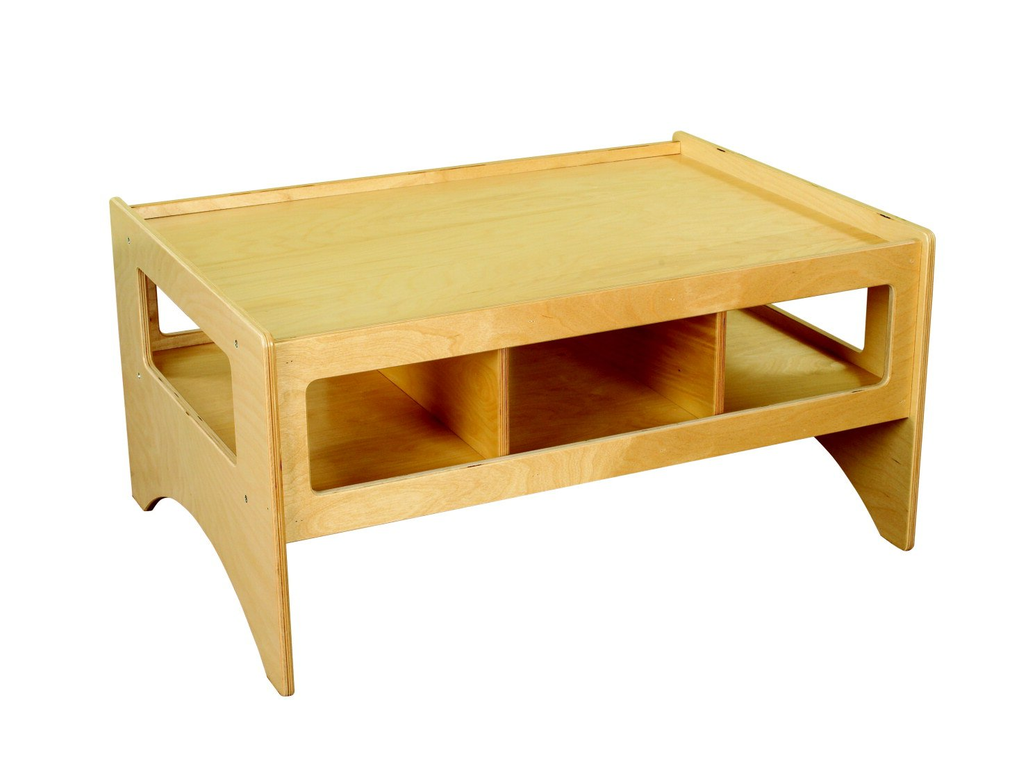 Childcraft 1464164 Multi-Purpose Play Table, Wood, 36'' x 26'' x 18'', Natural Wood Tone by Childcraft