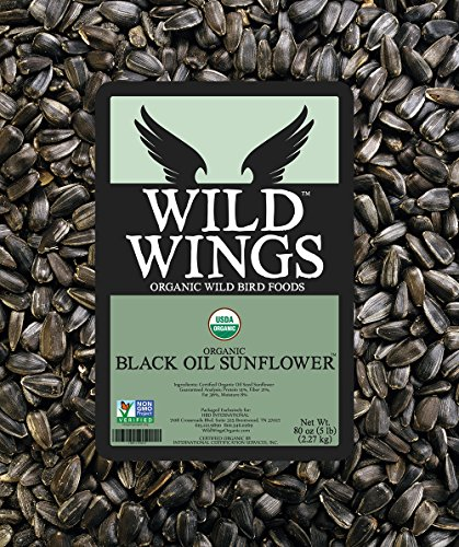 Wild Wings Organic Black Oil Sunflower Seeds 5lb