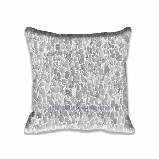 Muy suave piedra mar naturaleza blanco patrón fundas de ...