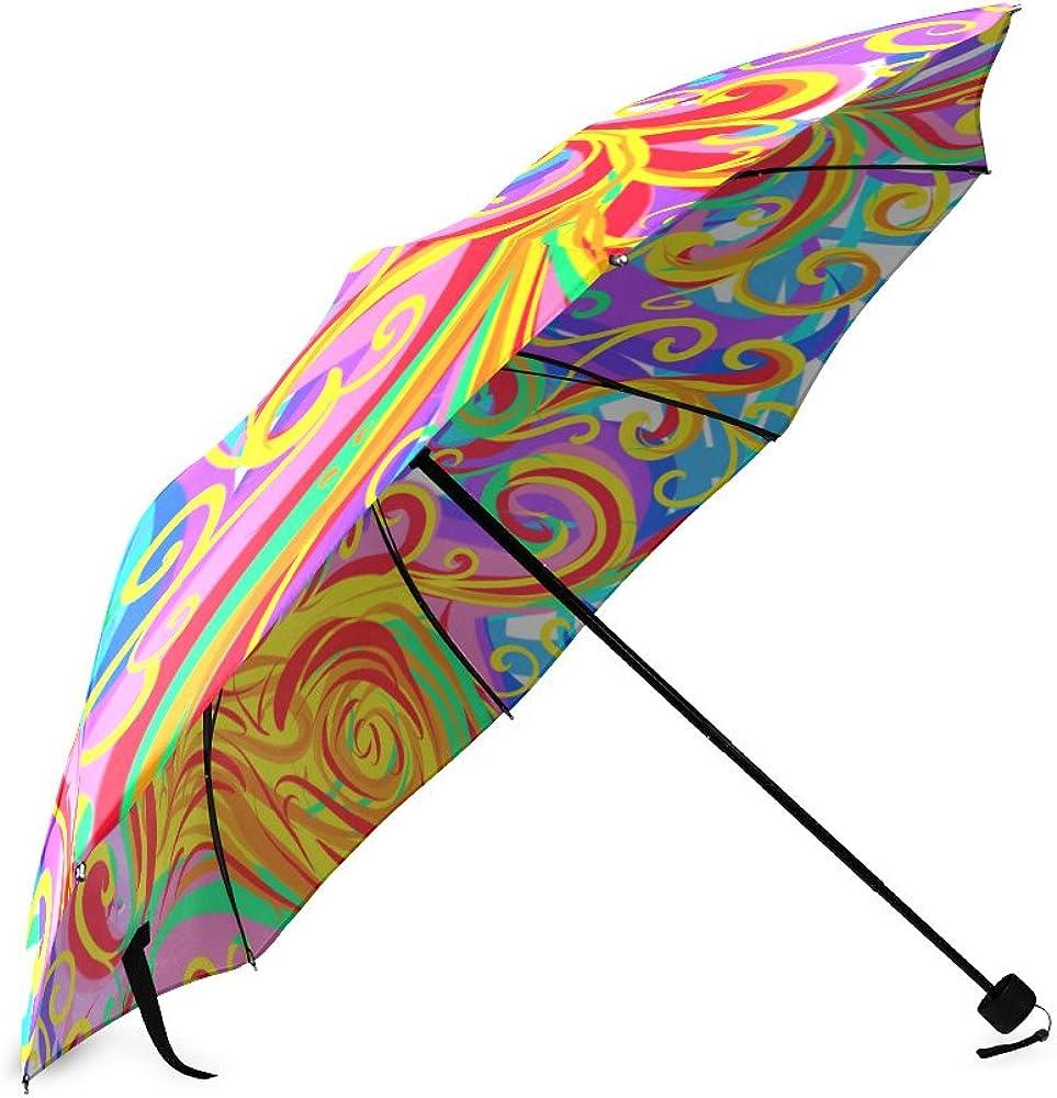 Folding Umbrella Rainproof /& Windprrof Umbrella Love Heart Custom Umbrella Automatic